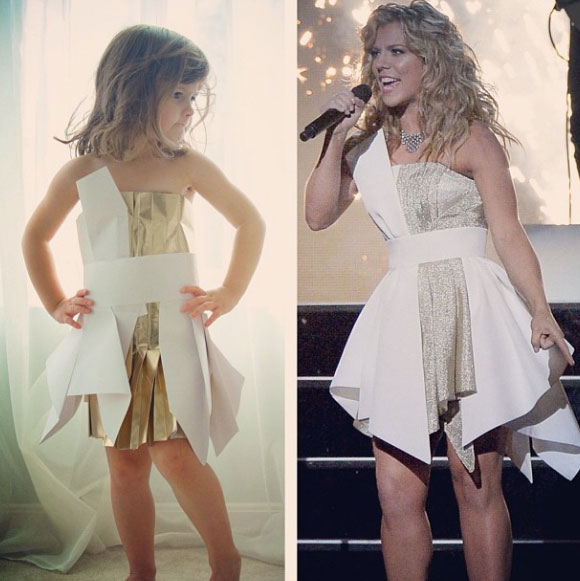 Mother and Daughter Recreate Paper Versions of Dresses Worn by Celebs (1)
