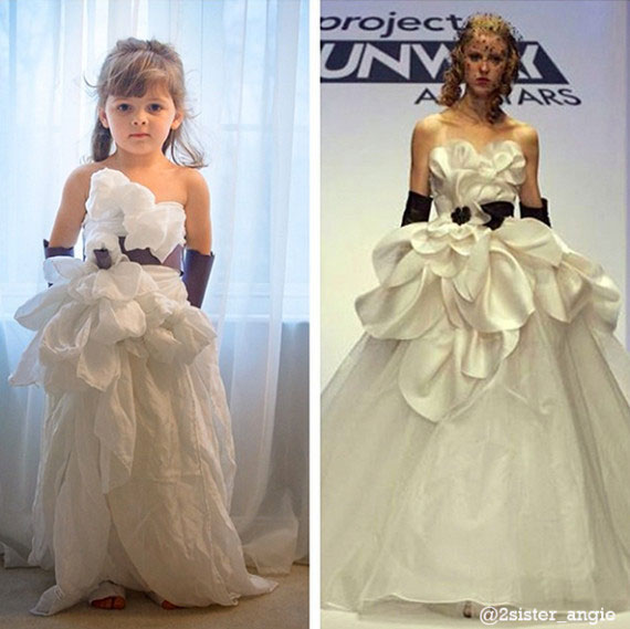 Mother and Daughter Recreate Paper Versions of Dresses Worn by Celebs (6)