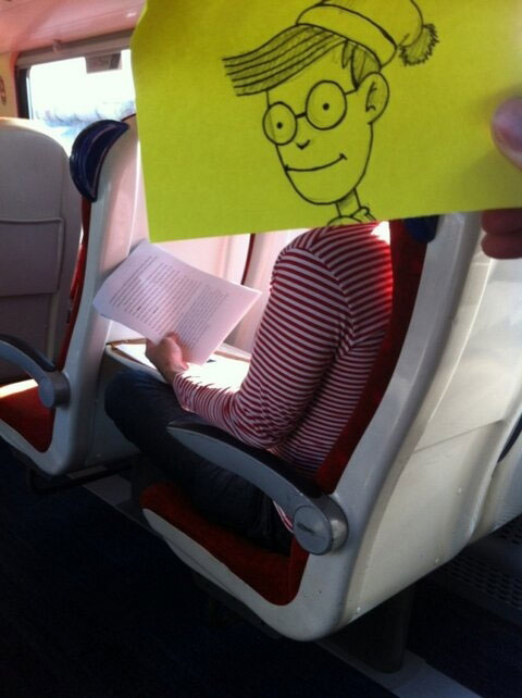 october jones gives people cartoon faces on train ride to work (11)