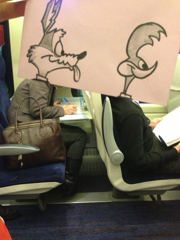 october jones gives people cartoon faces on train ride to work (6)