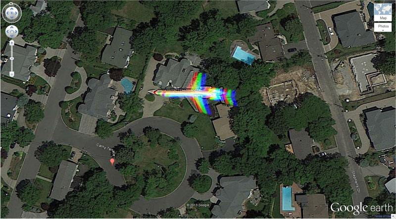 Rainbow Plane Amazing Finds On Google Earth