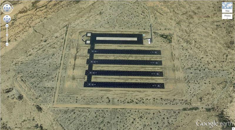 random base in the desert 50 Amazing Finds on Google Earth