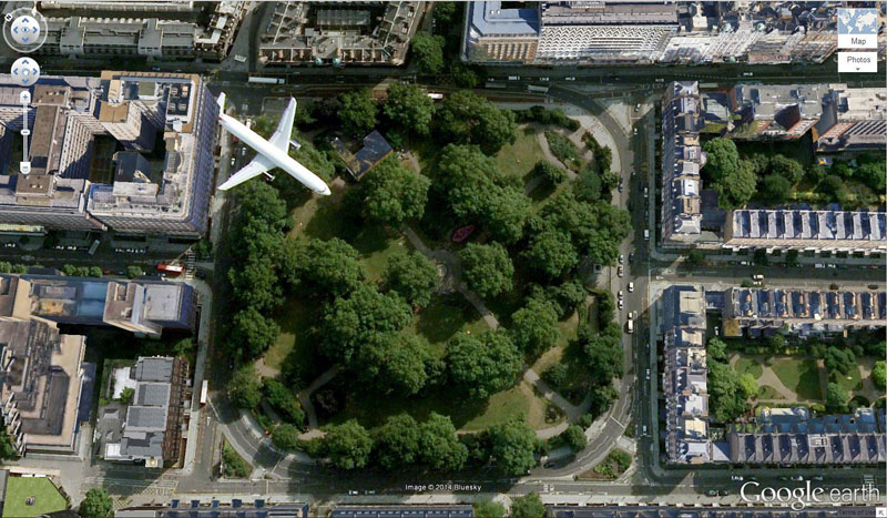 russel square london uk google earth 2 50 Amazing Finds on Google Earth