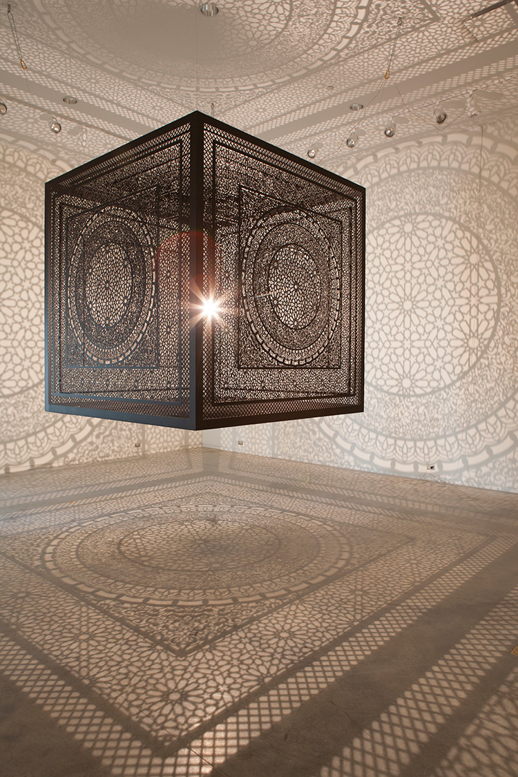 Picture of the day the shadow cube twistedsifter shadow cube light installation art interesctions by anila quayyum agha 1 arubaitofo Choice Image