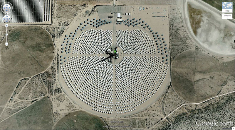 solar field 50 Amazing Finds on Google Earth