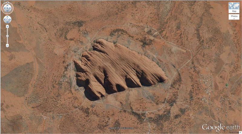uluru ayers rock google earth
