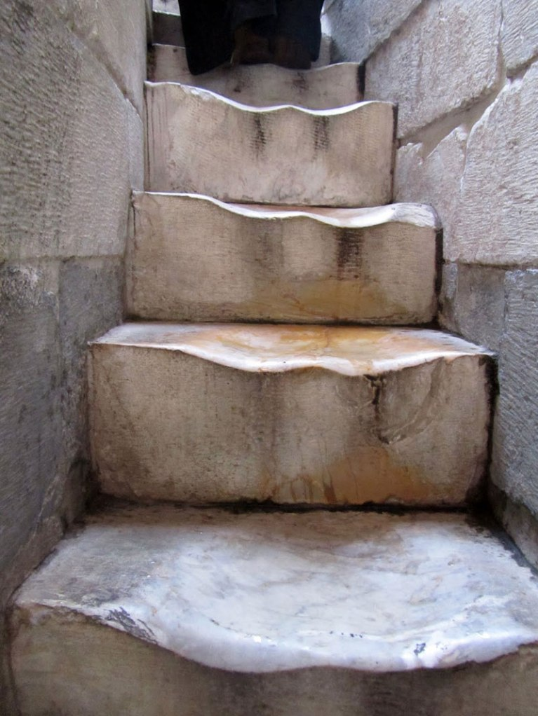 Picture of the Day: The Worn Marble Steps at the Leaning Tower of Pisa