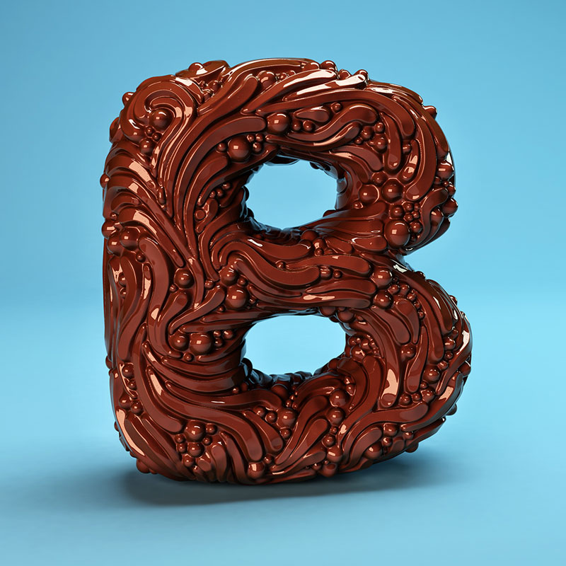 cgi sculpted alphabet by FOREAL (2)