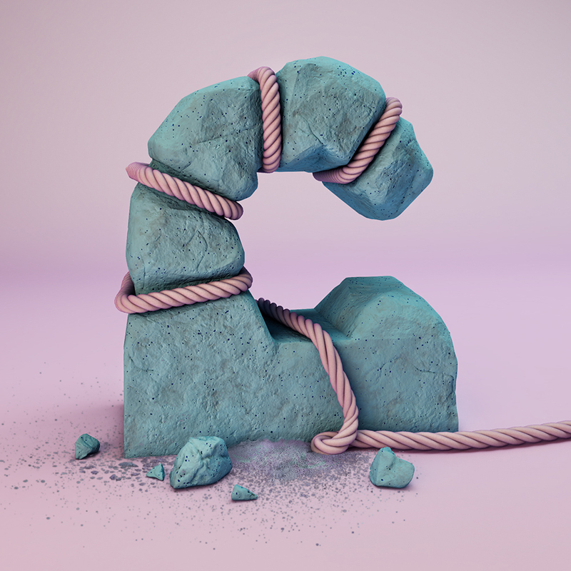 cgi sculpted alphabet by FOREAL (3)