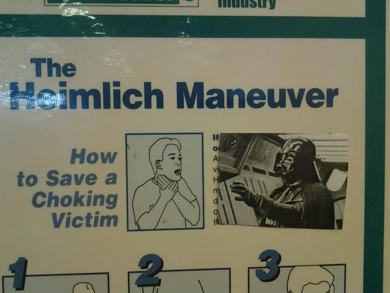 darth vader heimlich choking sign
