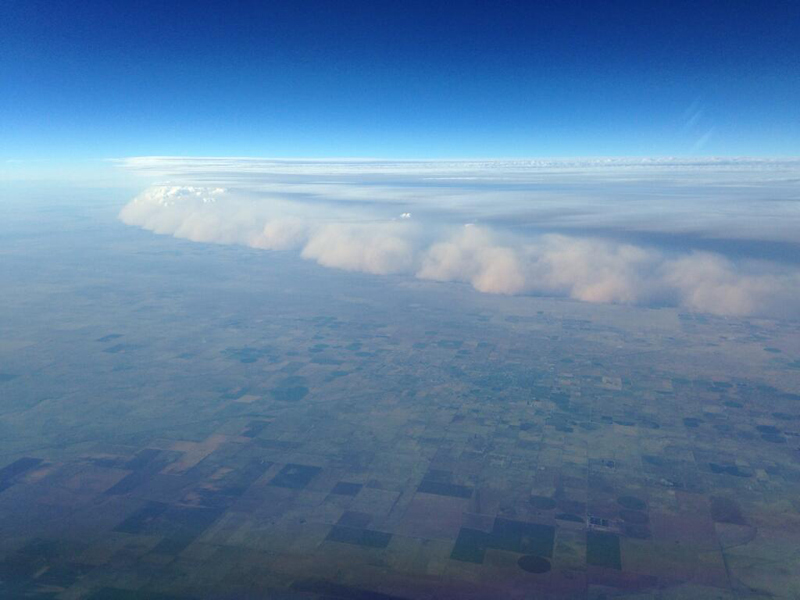 Picture of the Day: What a Dust Storm from a Plane Looks Like
