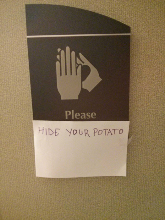 hide your potato sign funny