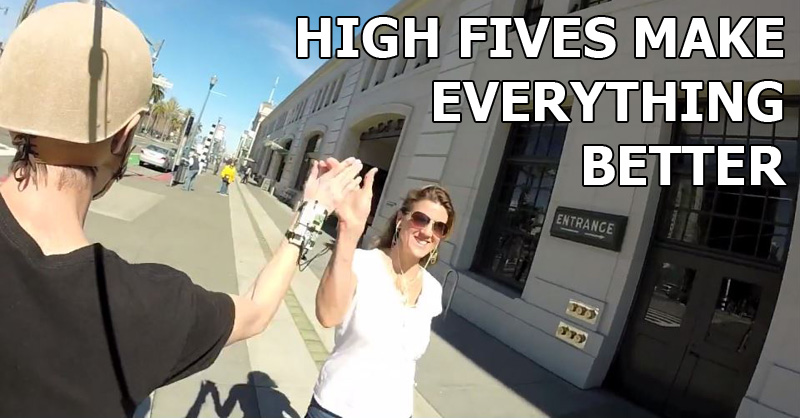 This Guy Made a High Five Camera Because High Fives Make EverythingBetter