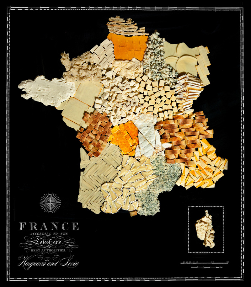 Map of France Made from Regional Foods by caitlin levin and henry hargreaces (2)