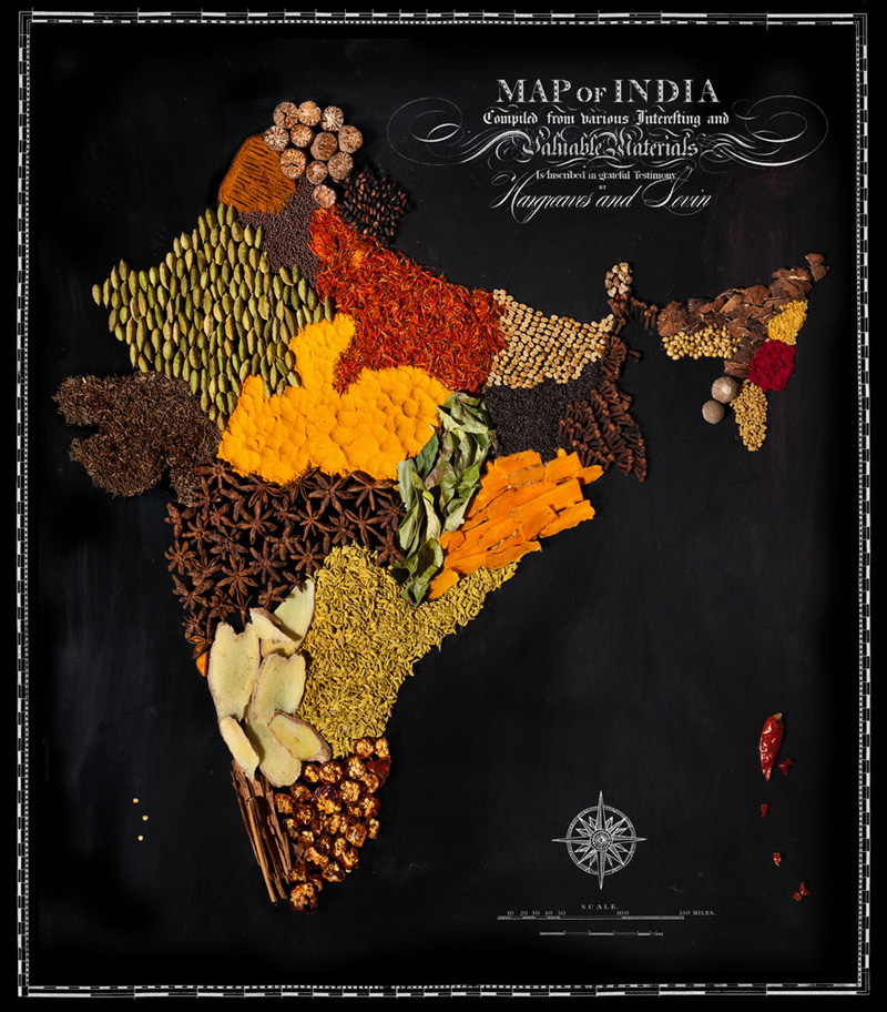 Map of India Made from Regional Foods by caitlin levin and henry hargreaces (3)