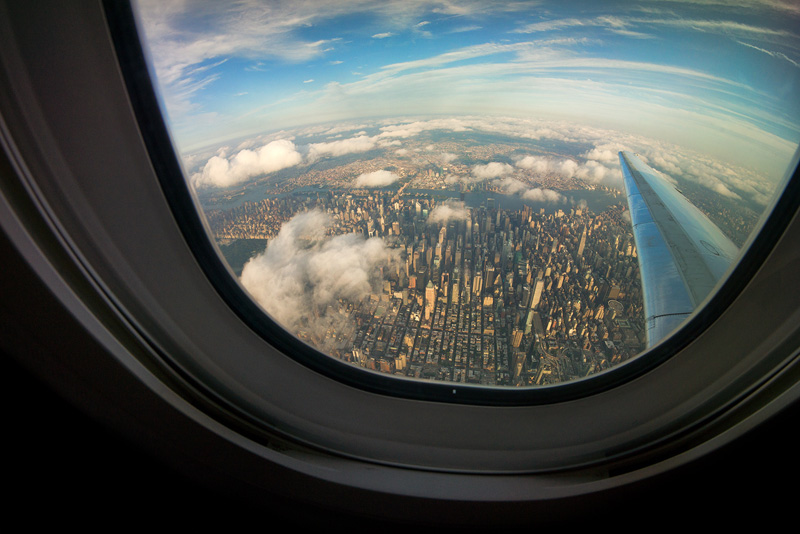 Airplane Window From Inside