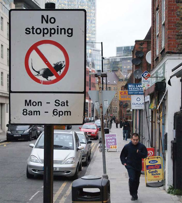 no stopping banksy