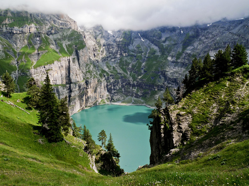 Oeschinen Lake switzerland
