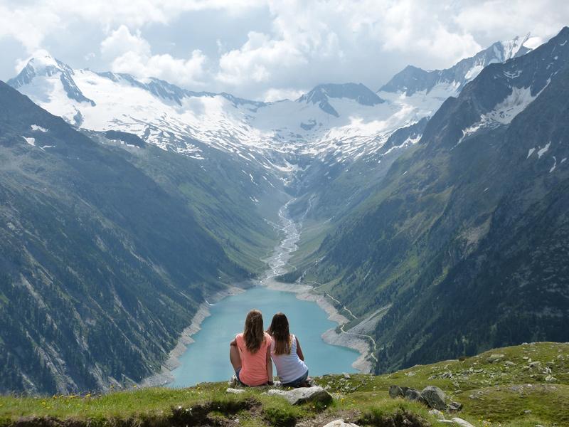 Schlegeis lake zillertal tyrol austria
