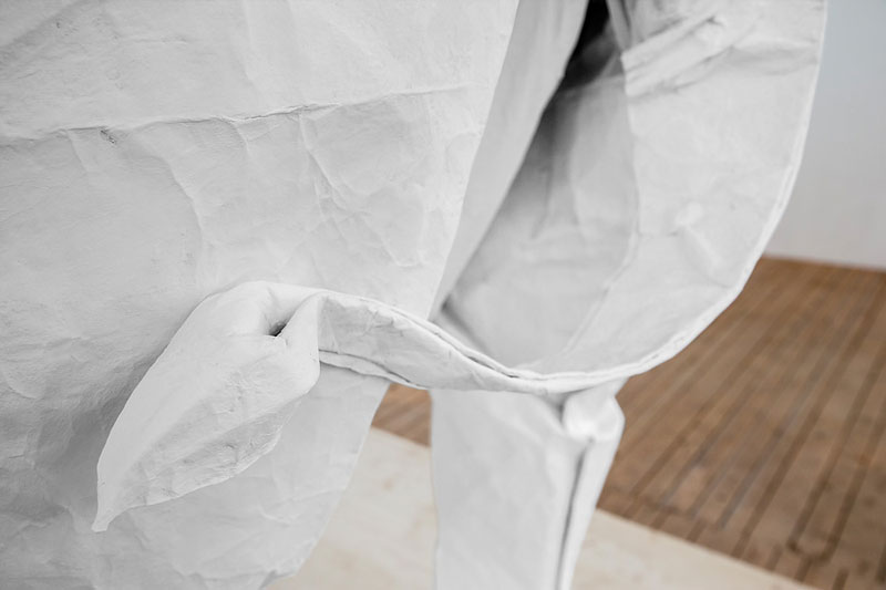 sipho mabona folds a life sized origami white elephant from a single sheet of paper (6)