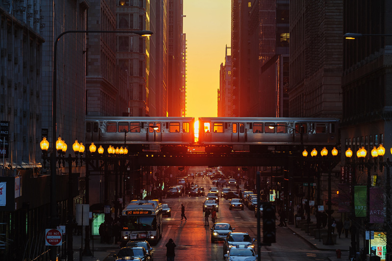 spring equinox in chicago chicagohenge by nixerkg The Top 50 Pictures of the Day for 2014
