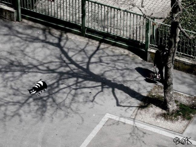 arte de la calle por el roble encino (2)