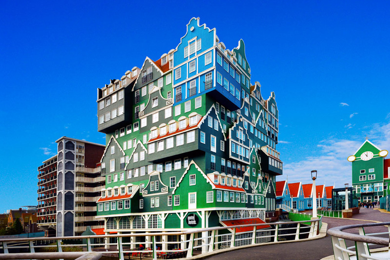 the stacked house hotel in zaandam netherlands inntel hotel1 Picture of the Day: The Stacked House Hotel in Zaandam