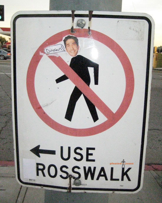 use rosswalk funny street sign