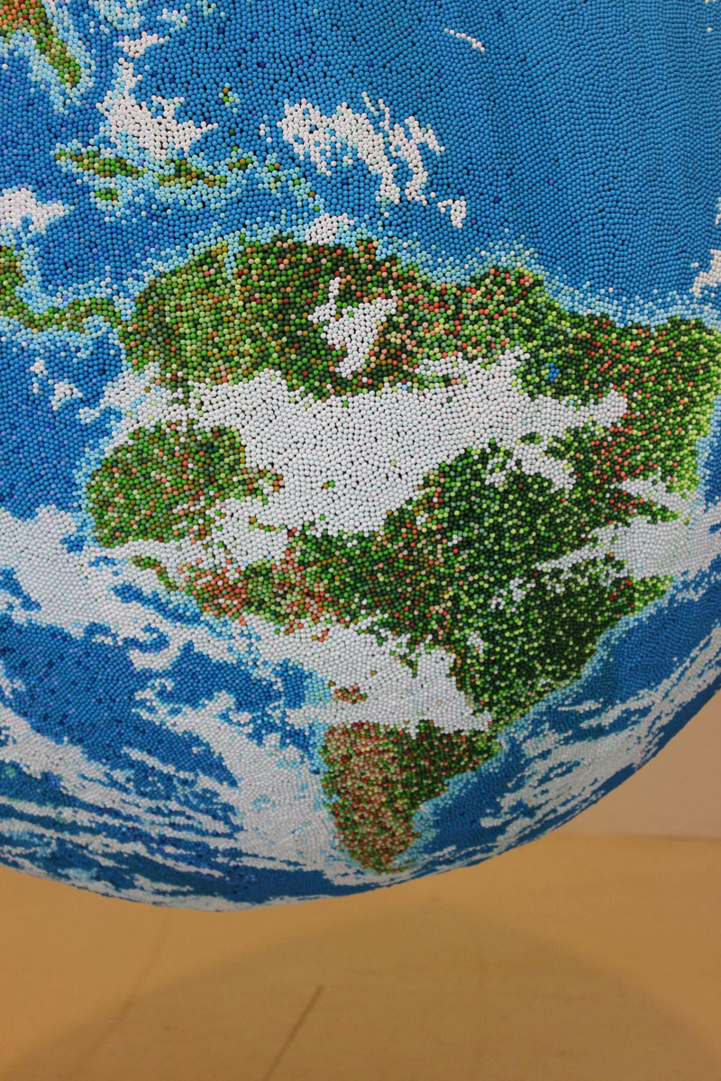 world globe made from matches by andy yoder (4)