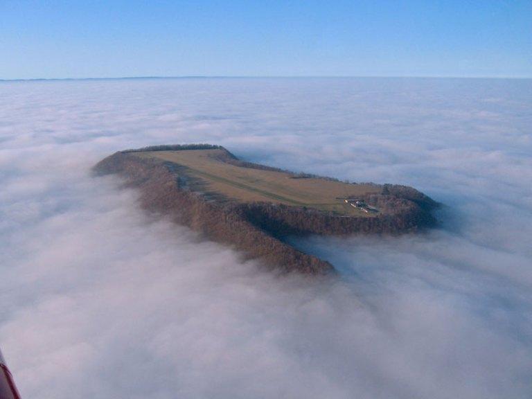 airplane runway-on-hill-above-fog-farrenberg-aerodrome-germany FAR1