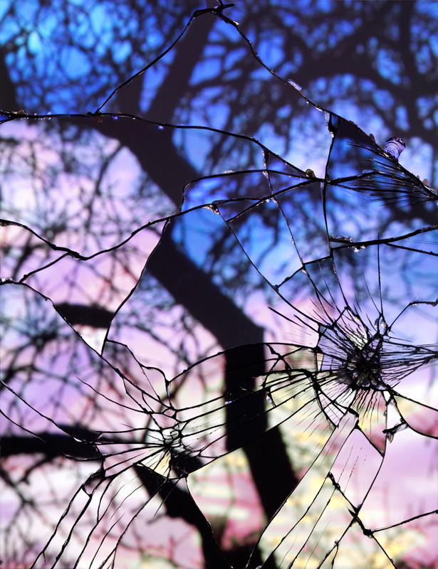 Broken Reflection Shattered Mirror Sunse...