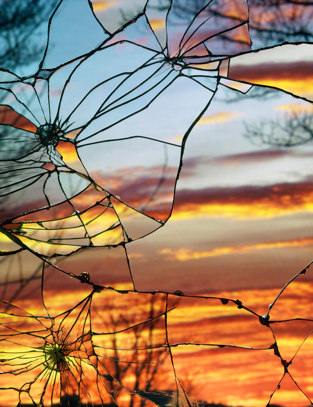 Broken-Mirror_Evening-Sky-(Anscochrome) by bing wright