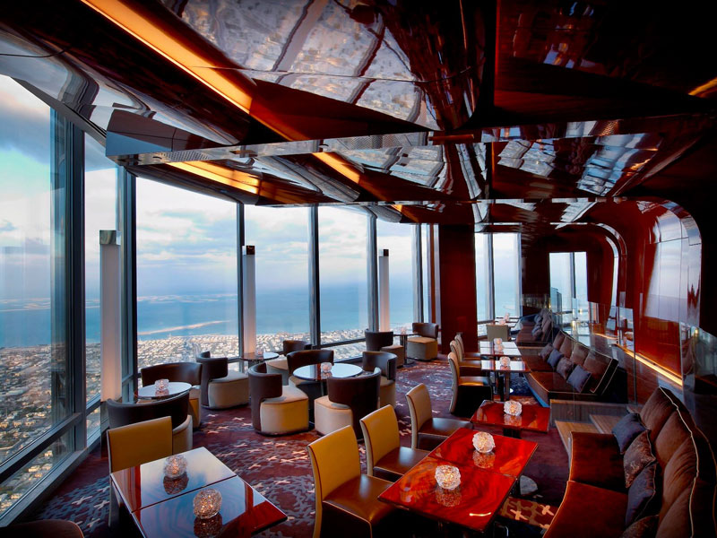 burj khalifa top floor restaurant atmosphere dubai