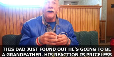 This Dad Just Found Out He's Going to be a Grandfather. His Reaction is Priceless