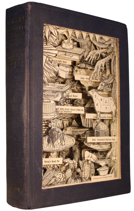 Discarded Books Transformed Into Exploding 3D Collages by Kerry Miller (3)