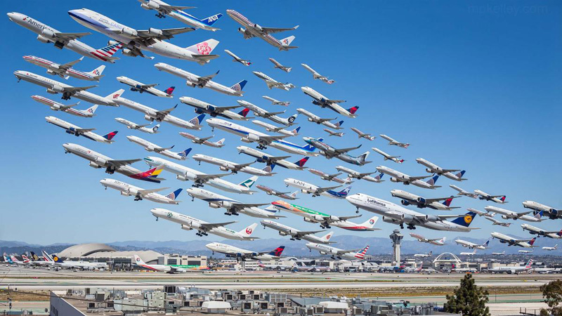 Picture of the Day: Eight Hours of Takeoffs at LAX