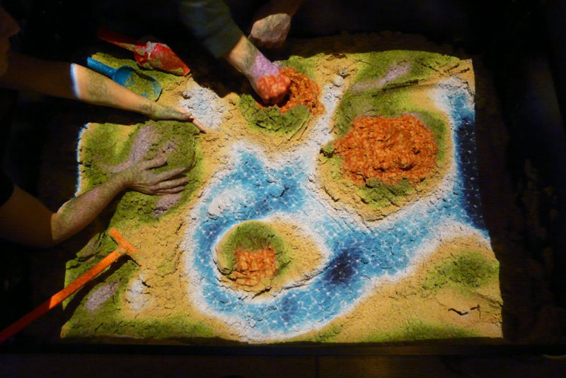 This Futuristic Sandbox Lets You Build Erupting Volcanoes and Flowing Rivers