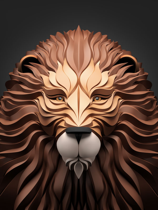 geometric predators by maxim shkret 1 These Vector Logos for Animals are Awesome