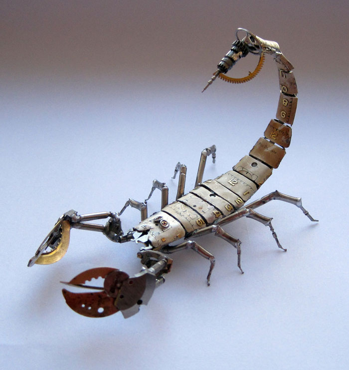 insects made from watch parts and discarded objects by justin gershenson-gates a mechanical mind (6)