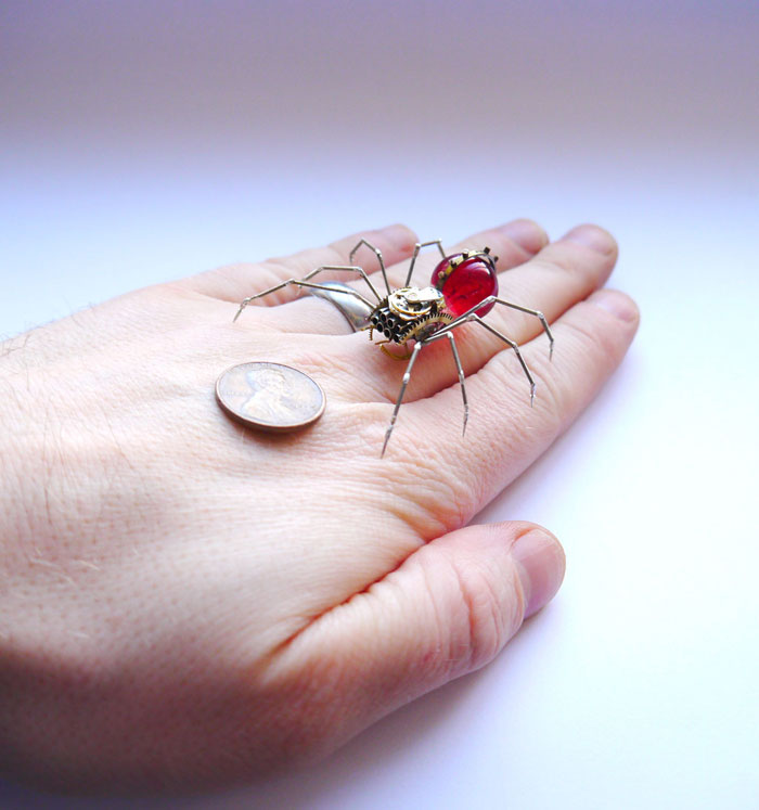 insects made from watch parts and discarded objects by justin gershenson-gates a mechanical mind (7)