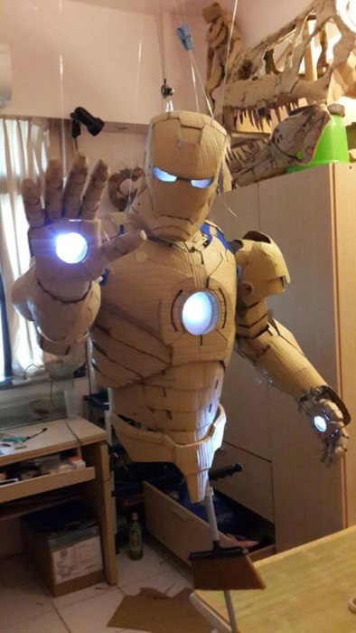 ironman suit made of cardboard by kai xiang xhong 10 This Guy Built a Millennium Falcon Quadcopter and Its Awesome
