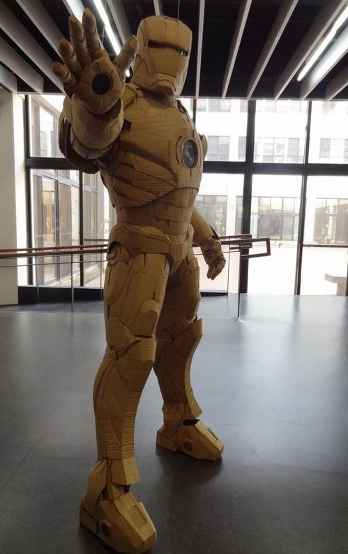 ironman suit made of cardboard by kai xiang xhong 16 These Were Made with Everyday Toothpicks