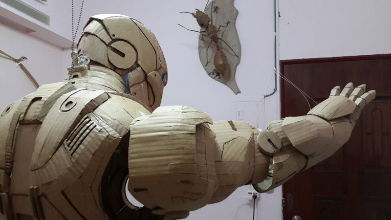 ironman suit made of cardboard by kai-xiang xhong (6)