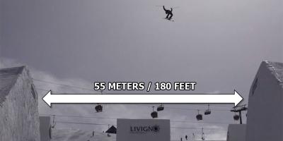 Jesper Tjader Double Backflips Over 180 ft WideHalfpipe