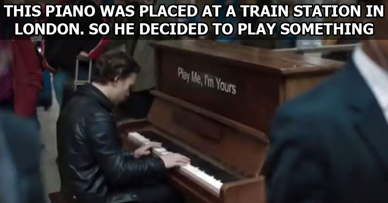 Professional Musician Plays on a Public Piano