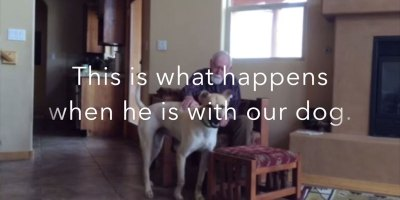 This Father Has Non-Verbal Alzhheimer's. Watch What Happens When He's with the Family Dog