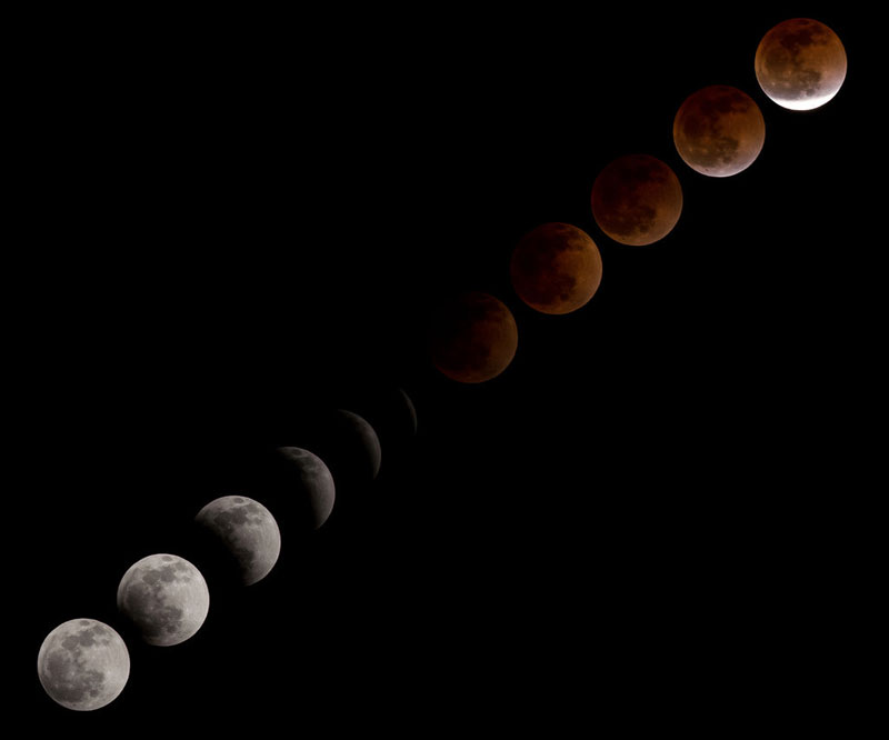 Picture of the Day: The Multiple Exposure BloodMoon