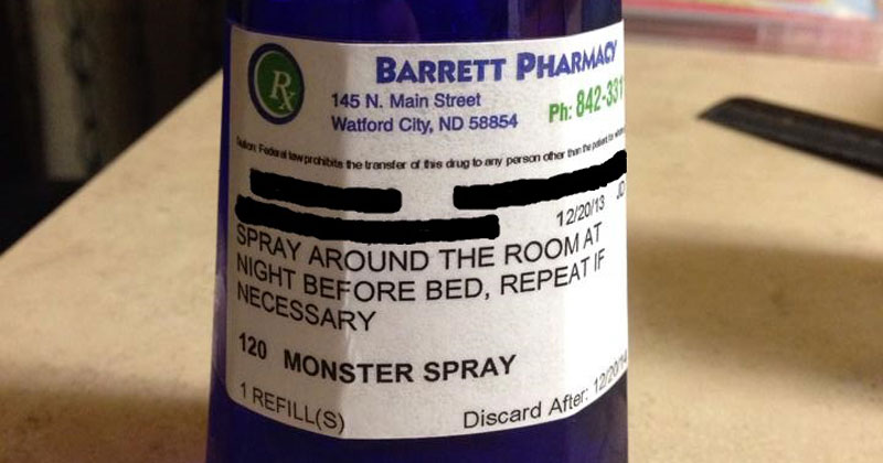 This Pharmacy Prescribes Monster Spray to Kids that are Scared of the Dark