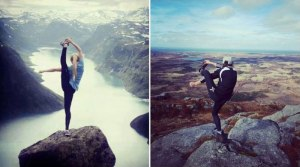 recreate yoga pose at top of mountain recreate yoga pose at top of mountain