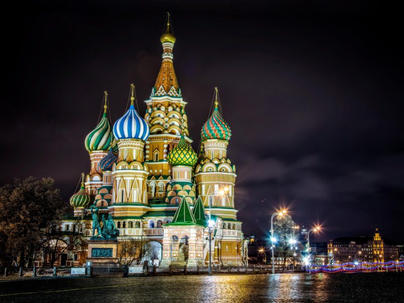 Superb Saint Basilu0027s Cathedral Kremlin Red Square Moscow Russia